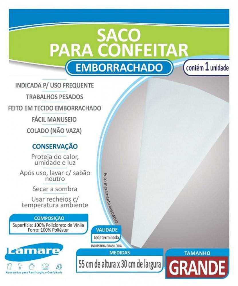 Saco de Confeitar Emborrachado Grande 55 x 30 cm - Lamare  - Lojão de Ofertas