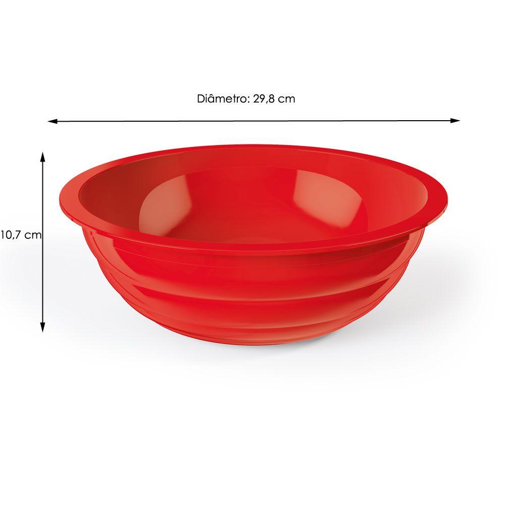 Saladeira Gomada 4 litros Vermelha - UZ Utilidades  - Lojão de Ofertas