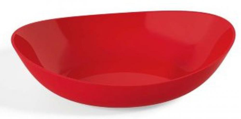 Saladeira Oval 4 litros Vermelha - UZ Utilidades  - Lojão de Ofertas