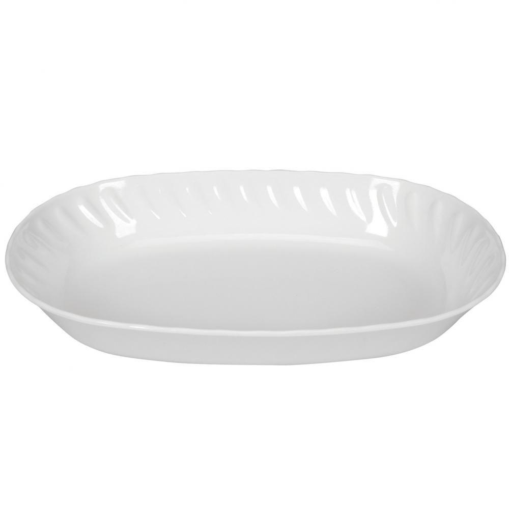 Saladeira Oval Branca 30 cm - Yangzi  - Lojão de Ofertas