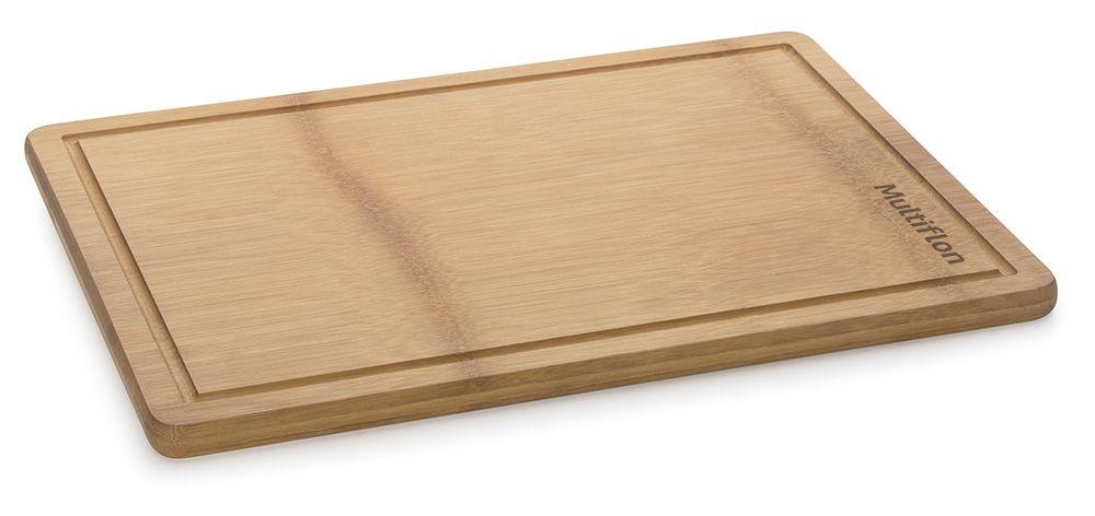Tábua de Bambu 45 x 32 cm - com Canaleta - Multiflon  - Lojão de Ofertas