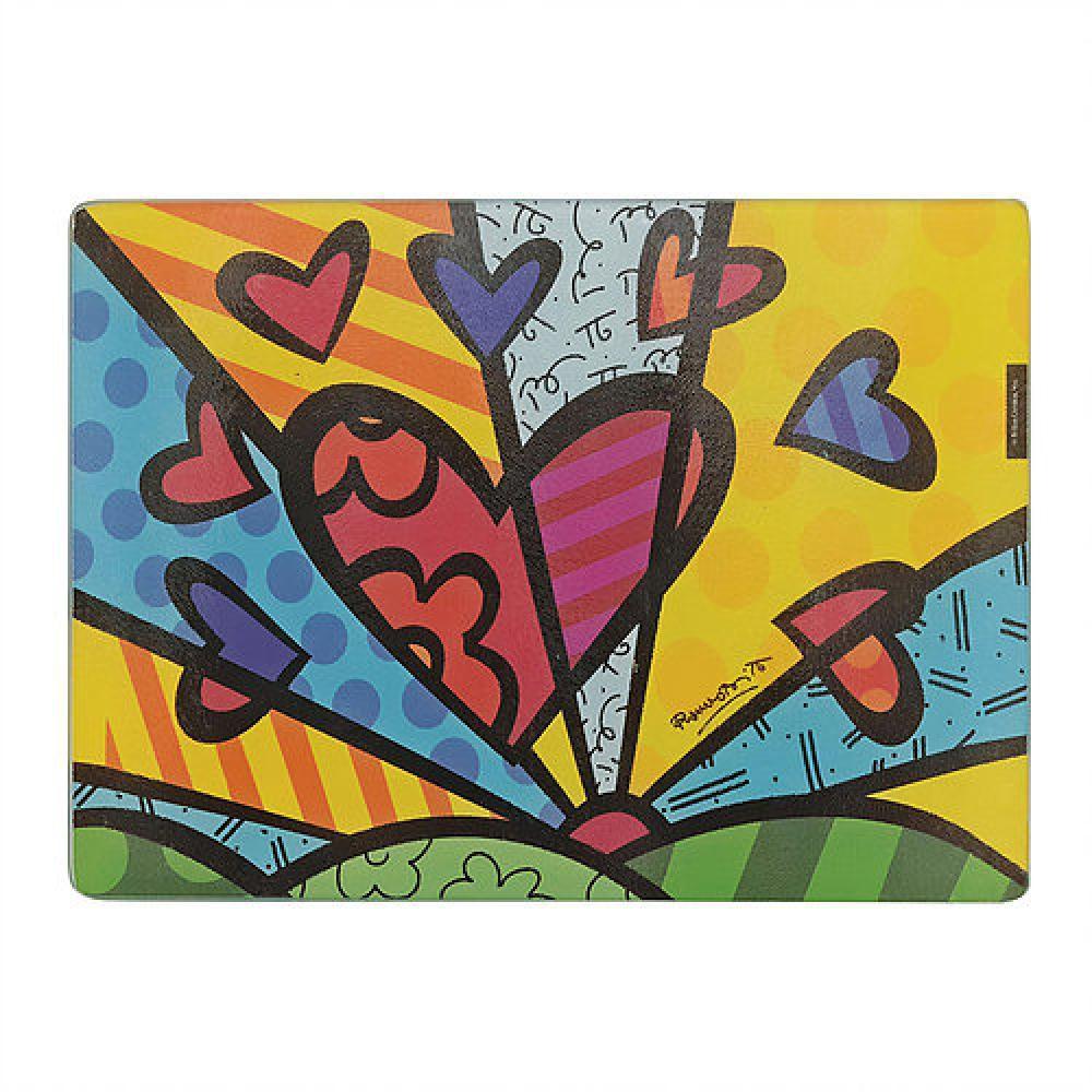 Tábua de Corte de Vidro 38 x 28 cm - Yangzi  - Lojão de Ofertas