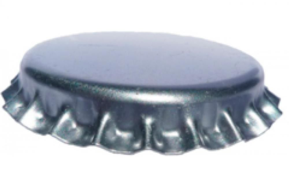 Tampas de Garrafa Tipo Coroa - Cor Prata - 1000 Unidades  - Lojão de Ofertas