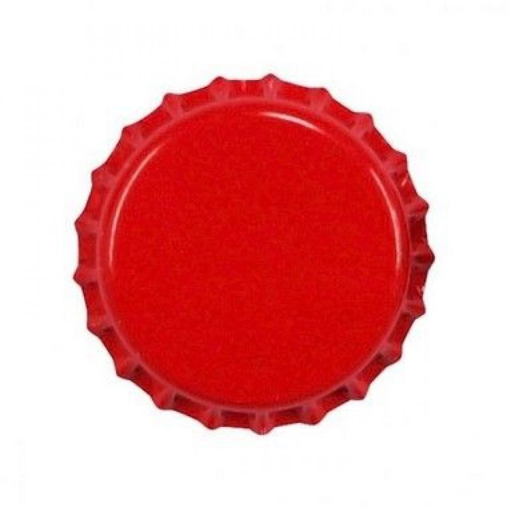 Tampas de Garrafa Tipo Coroa - Cor Vermelha - 100 Unidades  - Lojão de Ofertas