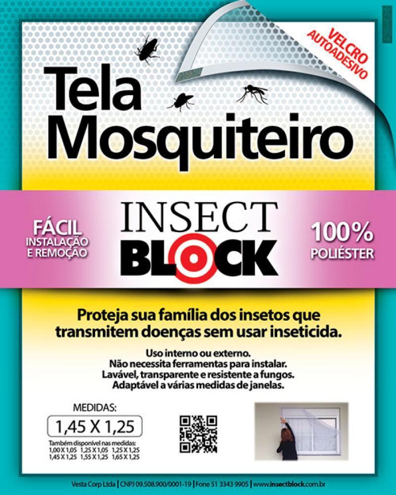 Tela Mosquiteiro 1,45 x 1,25 cm - Insect Block  - Lojão de Ofertas