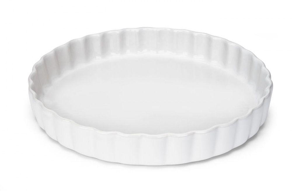 Travessa Canelada Branca 28,5 cm - Vianagrés  - Lojão de Ofertas