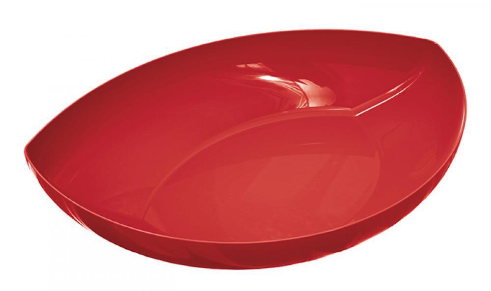 Travessa Folha Pequena Vermelha - UZ Utilidades  - Lojão de Ofertas
