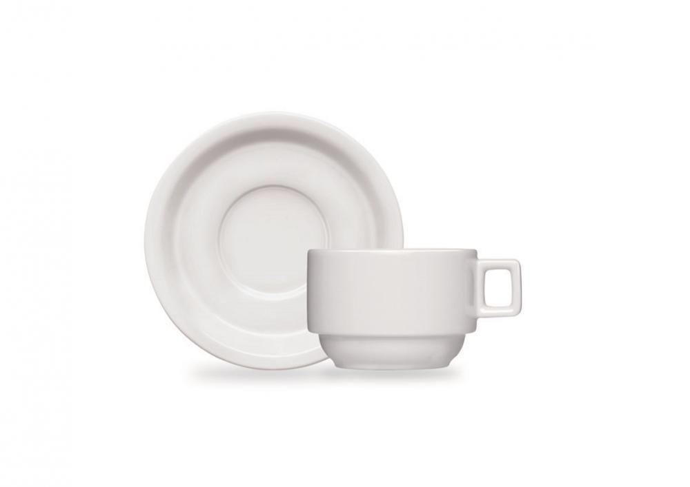 Xícara de Chá com Pires 210 ml (dúzia) - Linha Bar/Hotel - Germer  - Lojão de Ofertas