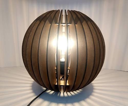 Luminária Abajur Mesa Esfera