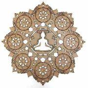Mandala Quadro Decorativo Exotérico Buda Em Mdf Mod10