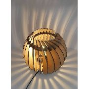 Luminária Abajur Mesa Esfera Diagonal