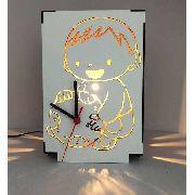 Luminária Abajur Mesa Relógio Criança linha Infantil