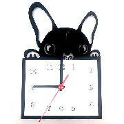 Relógio de Parede Cão Bulldog Frances Linha Pet
