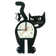 Relógio de Parede Gato Com Rato Em Cima Linha Pet