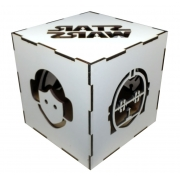 Luminária Cubo Led Tema Geek MOD4 BRANCA