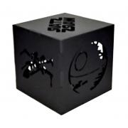 Luminária Cubo Led Tema Geek MOD5 PRETA