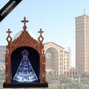 Oratório com a Imagem de Nossa Senhora Aparecida com Led