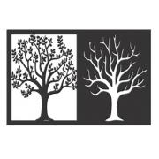 Quadro Decoração Árvore Duas Estações