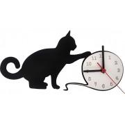 Relógio de Parede Gato E Bola De Lã Linha Pet