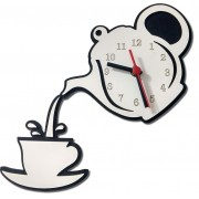 Relógio Parede Bule e Xícara de Café