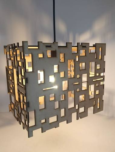 Luminária Pendente Teto Geométrico