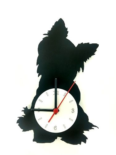 Relógio de Parede Cão Yorkshire Linha Pet