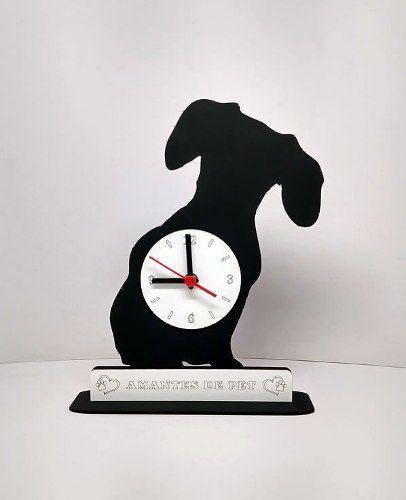 Relógio de Mesa ou Parede Cachorro Basset Linha Pet