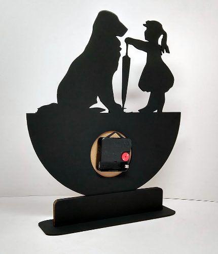 Relógio de Mesa ou Parede A Menina E Seu Cão Linha Pet