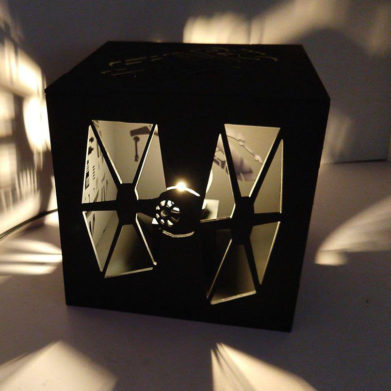 Luminária Abajur Cubo Star Wars Nave R2b2 Estrela Da Morte