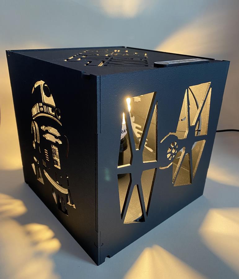 Luminária Abajur Cubo Star Wars v2