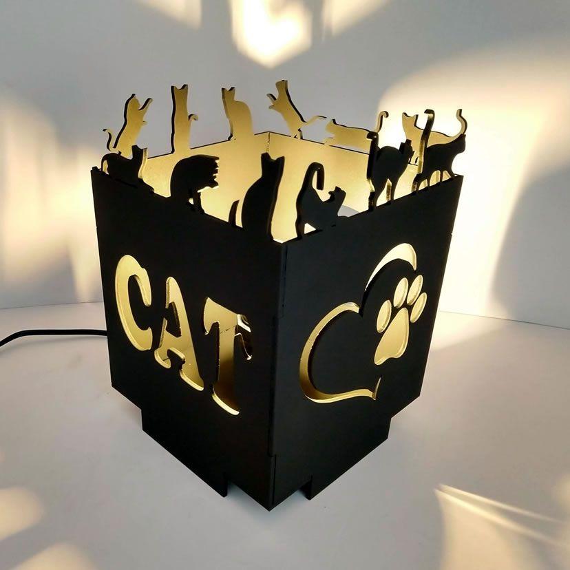 Luminária Abajur I Love Cat Linha Pet