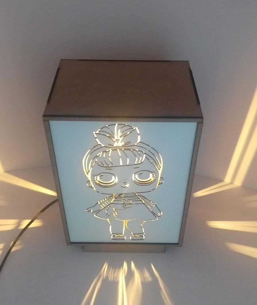 Luminária Abajur Mesa 3 Em 1 Linha Infantil