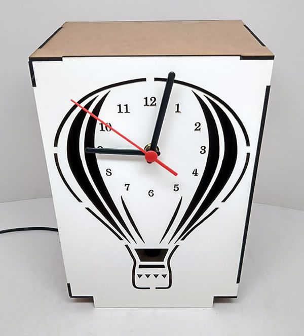 Luminária Abajur Mesa Relógio Balão Linha Infantil