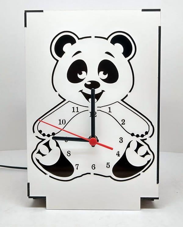Luminária Abajur Mesa Relógio Urso Linha Infantil