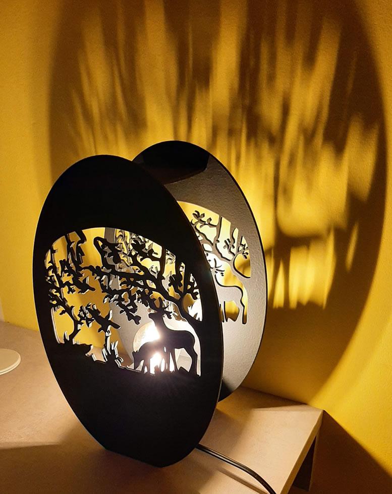 Luminária Abajur Óveo MOD3
