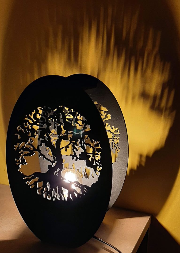 Luminária Abajur Óveo MOD4
