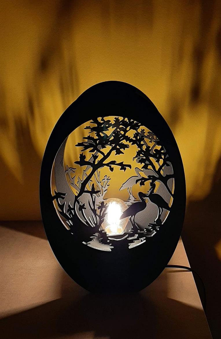 Luminária Abajur Óveo MOD6