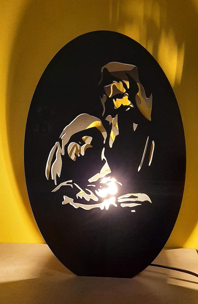 Luminária Abajur Óveo MOD7