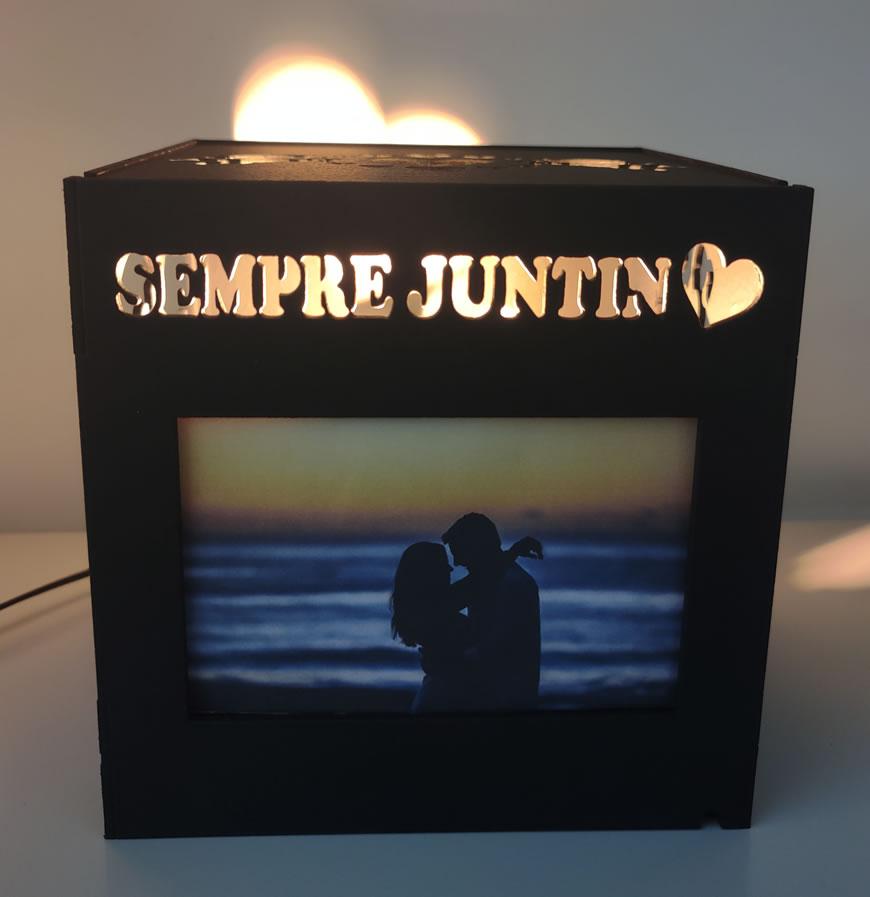 Luminária Abajur Porta Retrato Namorados MOD1