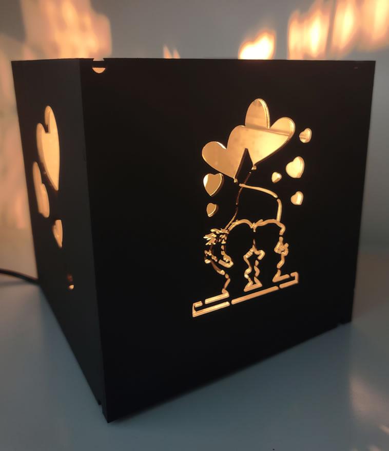 Luminária Abajur Porta Retrato Namorados MOD2