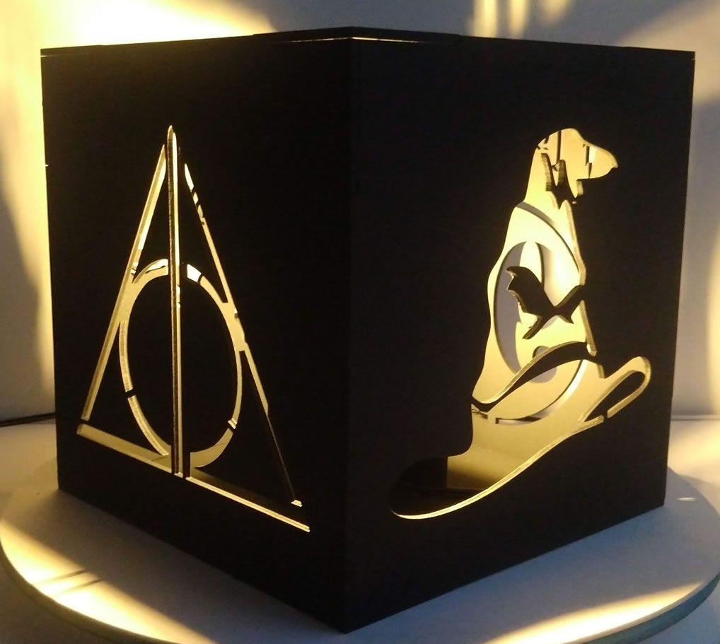 Luminária Cubo Harry Potter