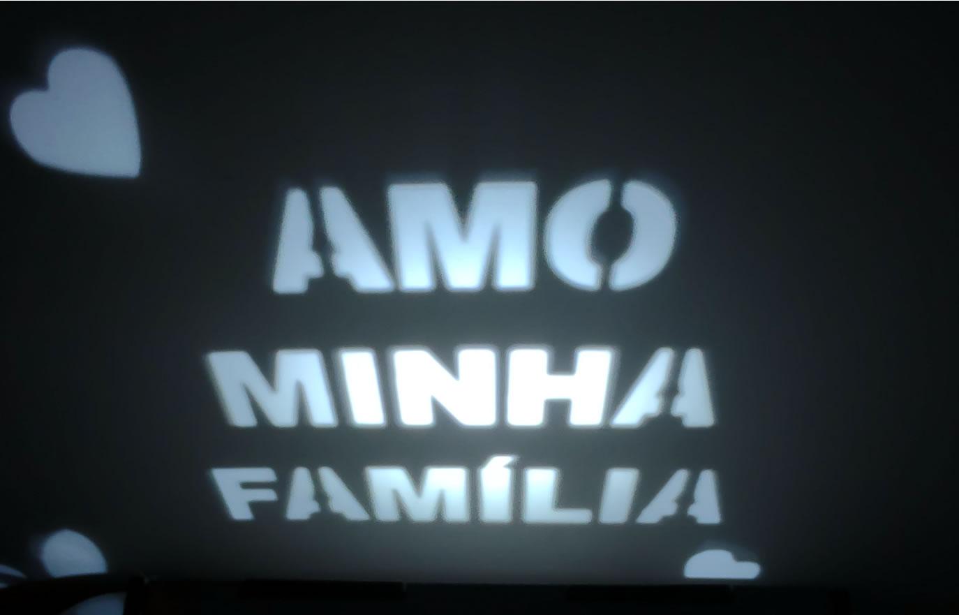 Luminária Cubo Led Tema Família MOD1 BRANCA