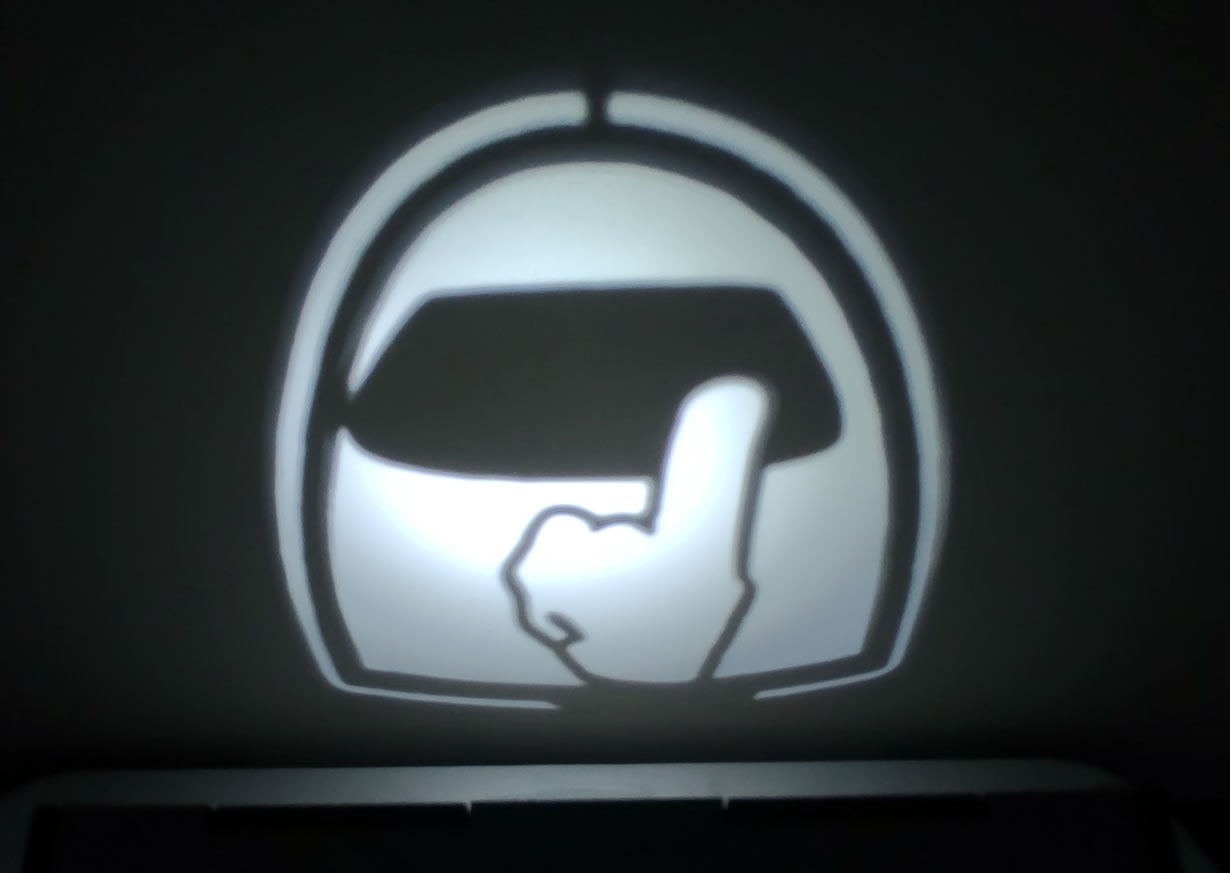 Luminária Cubo Led Tema Geek MOD2 BRANCA