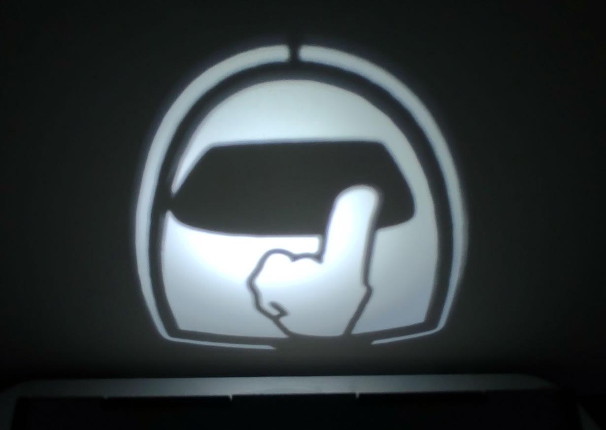 Luminária Cubo Led Tema Geek MOD2 PRETA