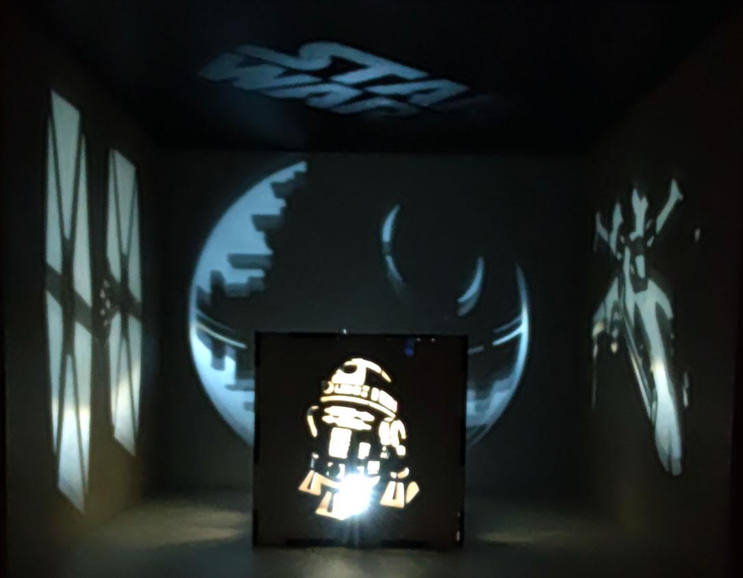 Luminária Cubo Led Tema Geek MOD5 BRANCA