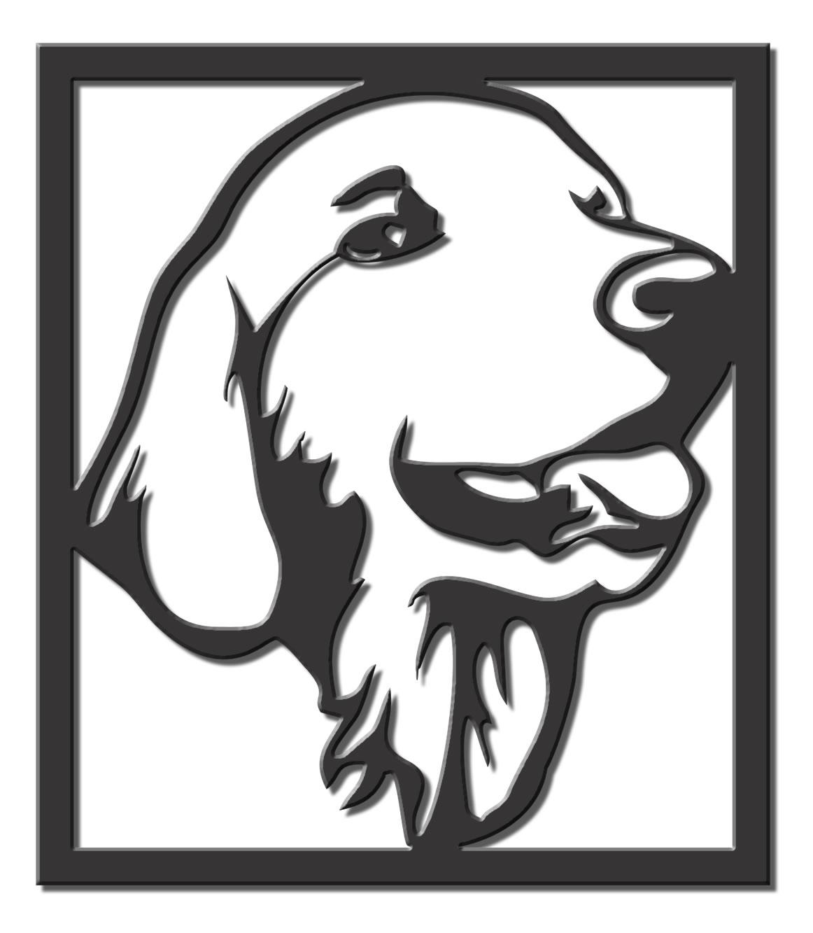 Quadro Decoração Cão Golden Retriever