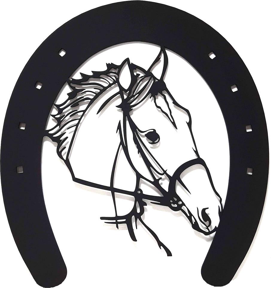 Quadro Decorativo Cavalo e Ferradura