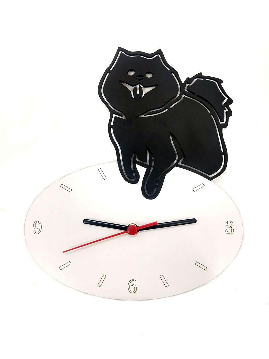 Relógio de Parede Cão Lulu Da Pomerânia Linha Pet