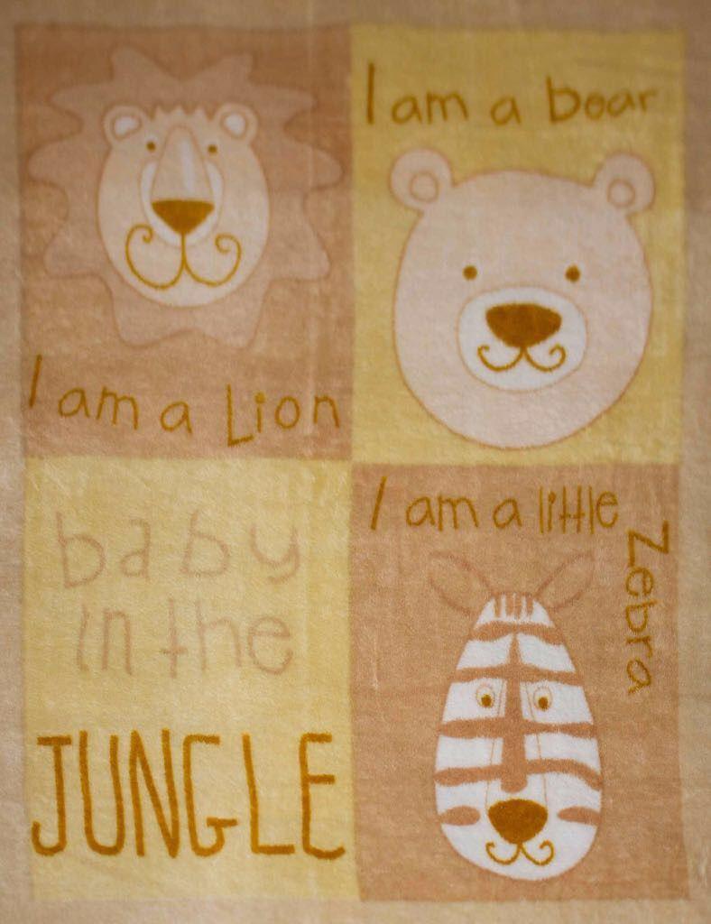 Cobertor Bebê Zoo Bege