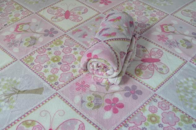 Cobertor Microfibra Bebê Coruja